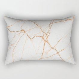stylish minimalist trendy chic rose gold white marble Rectangular Pillow