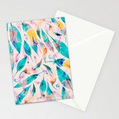 Abstract feather Stationery Cards