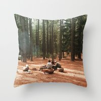 camp Throw Pillows featuring Camp by Casey Afton Hess