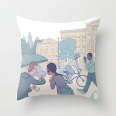 Street Time Throw Pillow