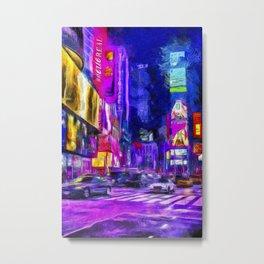 Times Square Van Gogh Metal Print