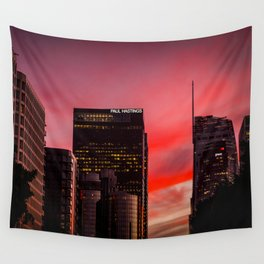 Skyscapes in Los Angeles Wall Tapestry