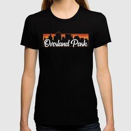 Vintage Overland Park Kansas Sunset Skyline T-Shirt T-shirt