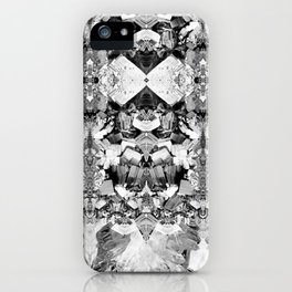 Kryptonite - Black & White iPhone Case