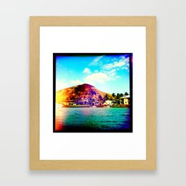 KOKO HEAD Framed Art Print