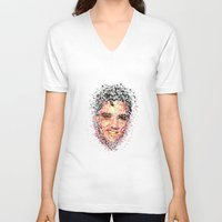 elvis V-neck T-shirts featuring Elvis  by Msimioni