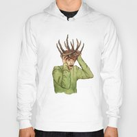 antlers Hoodies featuring Antlers by caxcma