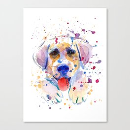White labrador puppy portrait Canvas Print