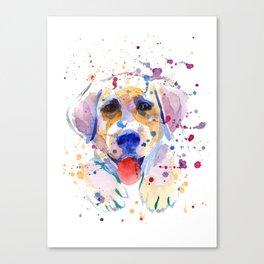 White labrador puppy portrait Canvas Print