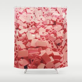 Pink LEGO's Shower Curtain