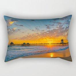 Painted Sky Over Huntington Beach Pier. Rectangular Pillow