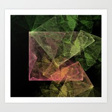 Abstract Art Cubic Space Art Print