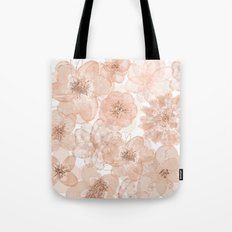 Flowers and Lace- Floral pattern in pink Tote Bag