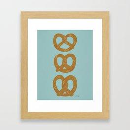 Pretzel Pattern – Mint Framed Art Print