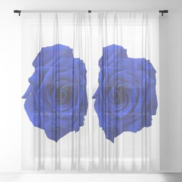 blue rose Sheer Curtain