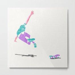 skateboarding 2 (lost time, risograph) Metal Print