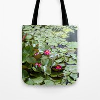 lotus flower Tote Bags featuring Lotus by Melissa Schantz Photography