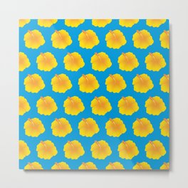 Hibiscus pattern_YF Metal Print