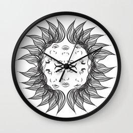 Symmetrical Sun Wall Clock