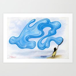 Bubble Shark Art Print