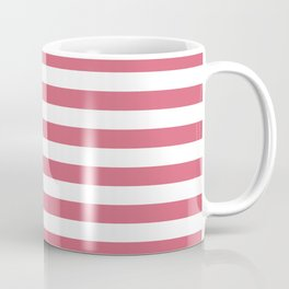Large Nantucket Red Horizontal Sailor StripesLarge Nantucket Red Horizontal Sailor Stripes Coffee Mug