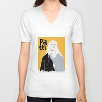 melissa smith V-neck T-shirts featuring Patti Smith by Elin Lucassi