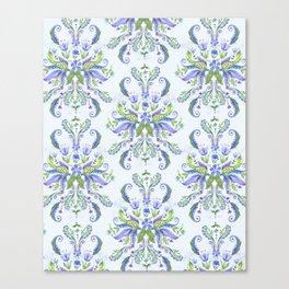 Blue Medallion Canvas Print