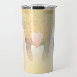 Healing Hands Yellow Travel Mug