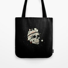 Planet Space Skull  Tote Bag