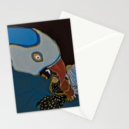 Parrot Pecking the Seeds Away Stationery Cards