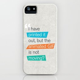 animated GIF  iPhone Case