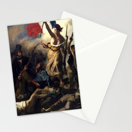 Delacroix – La liberté guidant le peuple-Liberty Leading the People-La Libertad guiando al pueblo Stationery Cards