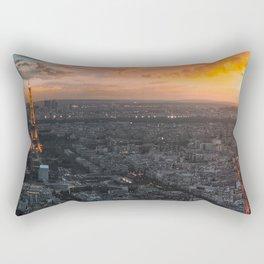 Sunset in the city of love Rectangular Pillow