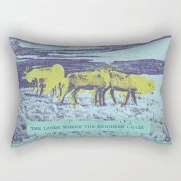 The Lands Where the Reindeer Graze Rectangular Pillow