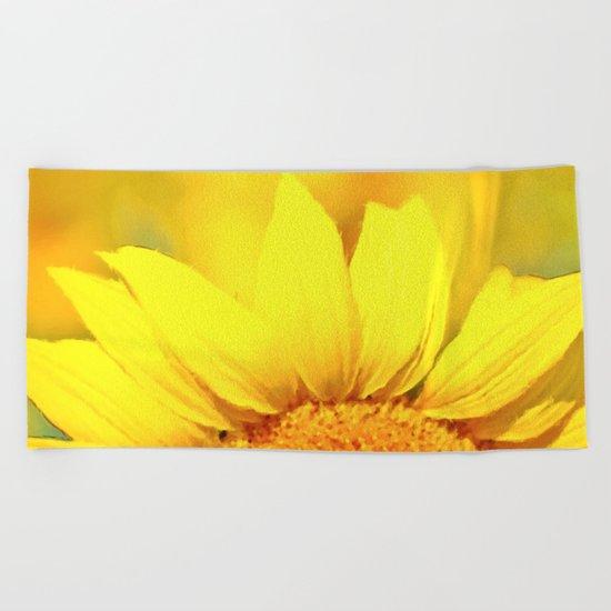 Sunflower love  Beach Towel