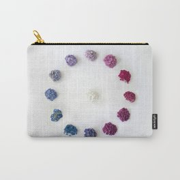 Circle of Hydrangea Carry-All Pouch