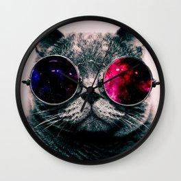 sunglasses cat Wall Clock