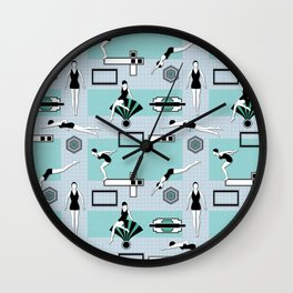 Art Deco Swimmers Wall Clock