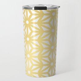 Asanoha Pattern – Gold Travel Mug