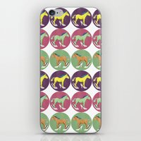 horses iPhone & iPod Skins featuring Horses by Bluetiz