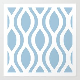 Pretty Ogee Pattern 431 Light Blue Art Print