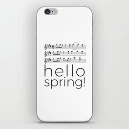 Hello spring! (white) iPhone Skin