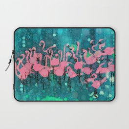 :: Flamingos Among Us :: Laptop Sleeve
