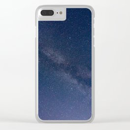 milky stars Clear iPhone Case