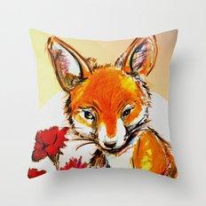 Fox in Sunset Throw Pillow
