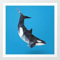 killer whale Art Prints featuring Killer Whale. by Diana D'Achille