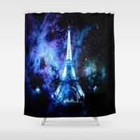 paris Shower Curtains featuring paRis galaxy dreams by 2sweet4words Designs