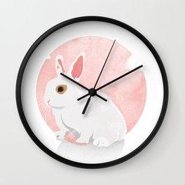 The White Bunny Wall Clock