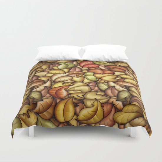 Autumn Is Falling Duvet Cover