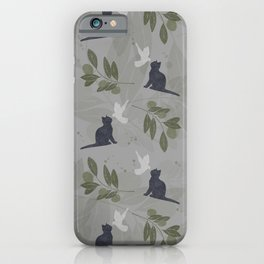 peace and joy gray iPhone Case